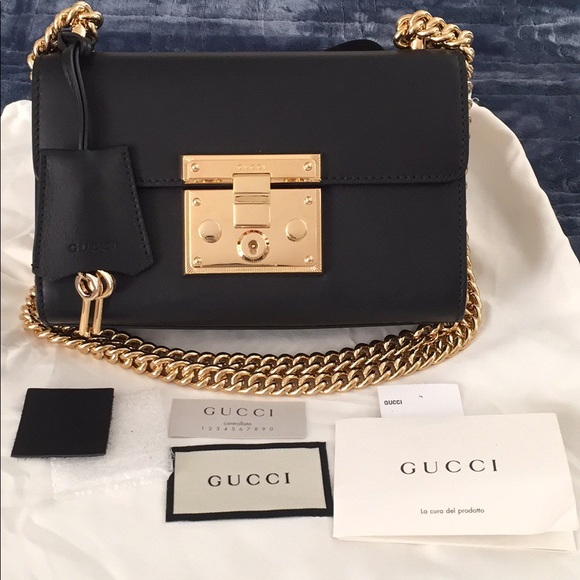 04386defaa Gucci Bags | Nwt Small Padlock Shoulder Bag Black | Poshmark